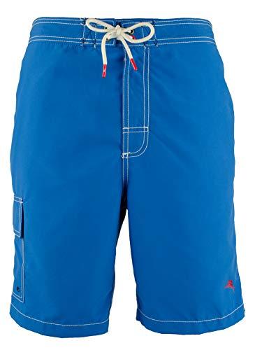 Tommy Bahama Baja Beach 9 Inch Boardshort/Swimwear (X-Large, Santorini Blue)