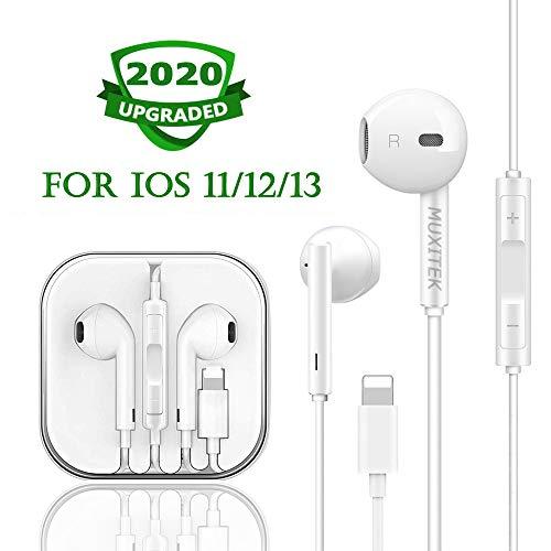 MUXITEK Earbuds, Microphone Earphones Stereo Headphones NoiseIsolating Headset Fit Compatible with iPhone Xs/XR/XS Max/iPhone 7/7 Plus iPhone 8/8Plus /iPhone X Earphones (1Pack)