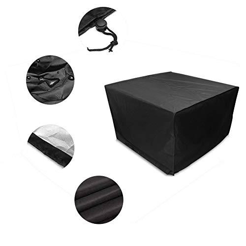 NINGWXQ Garden Tafelafdekking 210D Rectangle beschermhoes for gebruik buitenshuis eettafel en stoelen, meerdere maten, 2 kleuren (Color : Black, Size : 160x160x80cm)