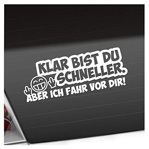 Kiwistar Klar bist du schneller. 20 x 7,5 cm IN 15 Farben - Neon + Chrom! Sticker Aufkleber