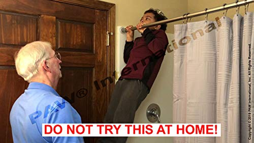 Stick to Stay Shower Curtain Rod Support Shower Curtain Rod Holder by PAW International