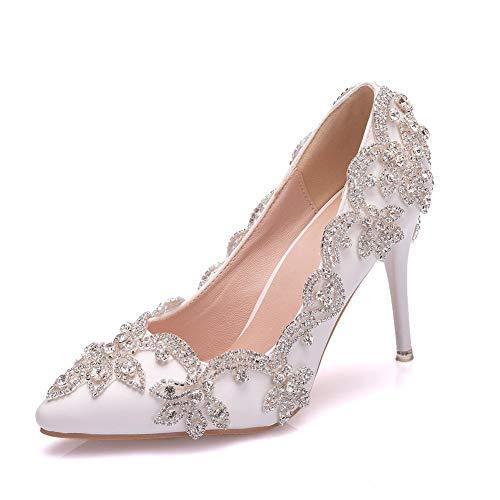 JFSKD Zapatos de Boda,Zapatos de Novia de Mujer,Zapatos de Vestido de Cena,9...