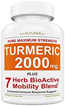 Turmeric Curcumin 2000 mg Support Supplement with Black Pepper - Curcumin Joint & Healthy Inflammatory Support with Boswellia White Willow Ginger Clove Cinnamon & Rosemary Premium Capsules