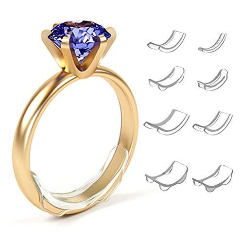 Ringgröße Einsteller,Reduzier für lose Ringe,8 Größe Unsichtbarer Ringgrößeneinsteller für lose Ringe