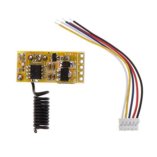 433MHZ 3V_12V LED relé inalámbrico Control remoto interruptor receptor con luz LED ultra alta sensibilidad recepción