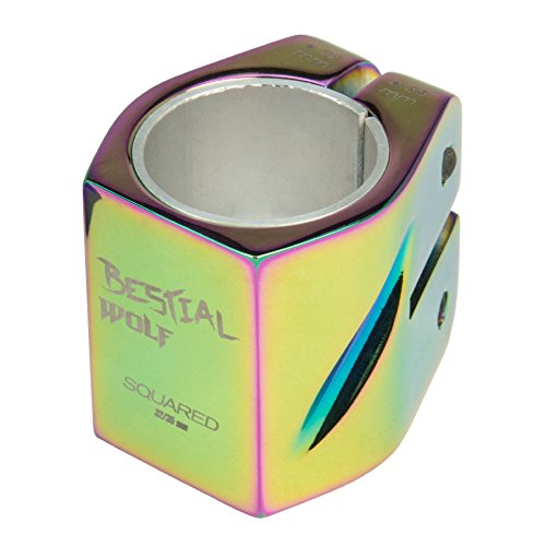 Bestial Wolf Nuevo Clamp 2 Tornillos Squaredrainbow, Color Rainbow, 32-35 mm