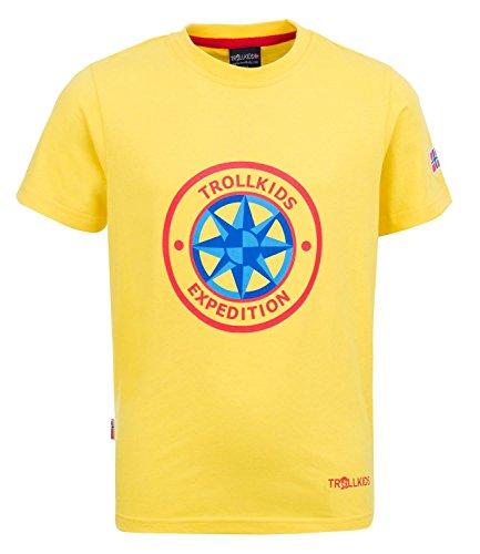 Trollkids Windrose T T-Shirt Jaune/Rouge 14 Ans 164 cm