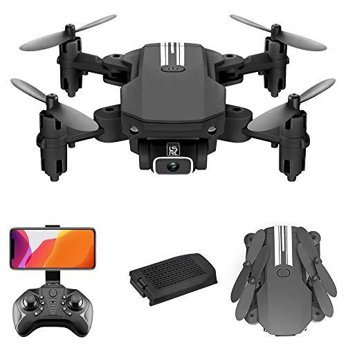 GoolRC LS- MIN Mini Drone con cámara 4K RC Quadcopter 13mins Tiempo de Vuelo 360 ° Flip Gesto Foto Video Pista Vuelo Altitud Control de Retención Remoto sin Cabeza para Niños Adultos (Negro,  1 Batería)