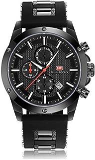 Mini Focus Mens Quartz Watch, Chronograph Display and Silicone Strap - MF0089G.02