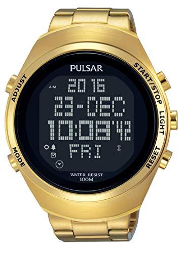 Pulsar Reloj Digital para Unisex de Analogico con Correa en Chapado en