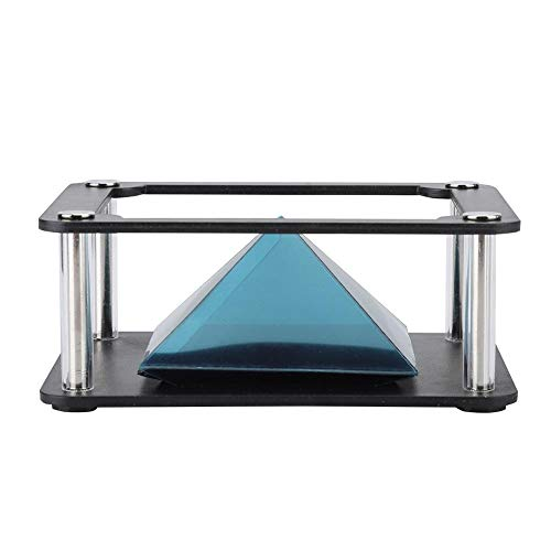 Dpofirs 3D Holographic Display Pyramid Stands Projektor, 3,5-6 Zoll mobiles Smartphone-Hologramm, für Corporate Product Display, Cartoon-Interaktion, persönliche Unterhaltung(Zylindrisch)