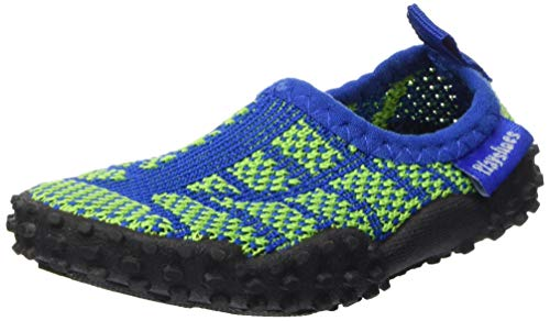 Playshoes Unisex-Kinder Strick Aqua-Schuhe, Grün (Blau/Grün 791), 24/25 EU