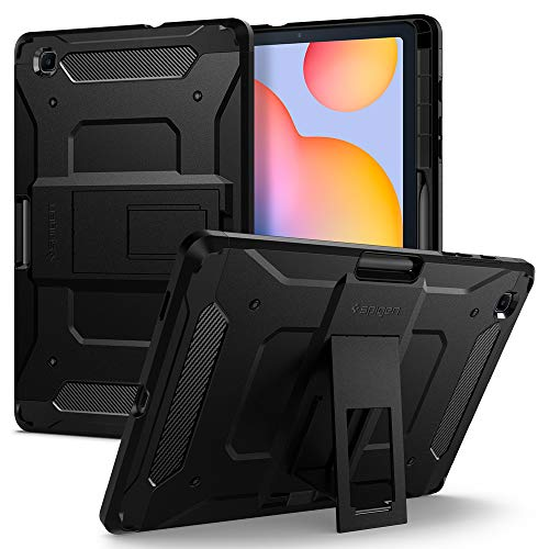 Spigen Tough Armor Pro Designed for Galaxy Tab S6 Lite Case with S Pen Holder (2020) - Black