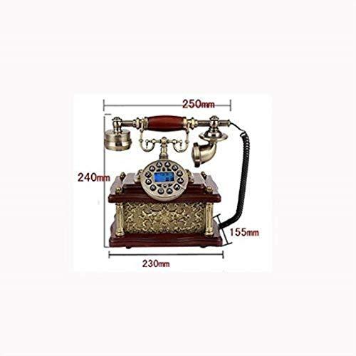 Lszdp- & zio Retro-Telefon im antiken Stil, schnurgebunden Festnetz-Telefon mit Druckknopf für...