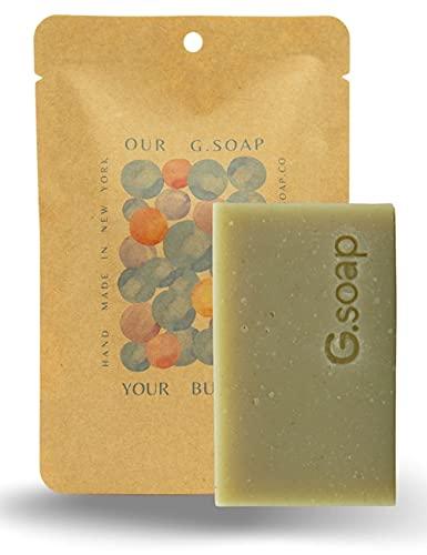 G.soap   BORICHA   French Green Clay & Korean Barley Tea Soap Bar Nourishing + Moisturizing Face & Body Zero Waist
