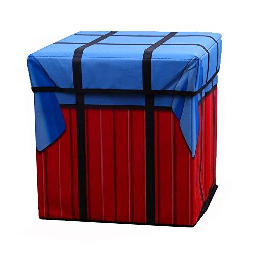 CLDGF Multifunktionale Aufbewahrungsbox, Faltbare Lagerung Hocker, Können Alle Arten Von Kleidung, Schuhe, Zubehör, Kleinigkeiten, PUBG Spiel Airdrop Tasche (31Cm * 31Cm * 31Cm)