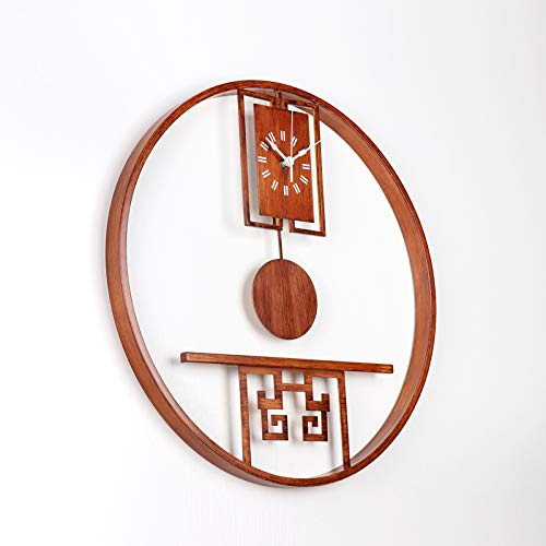 SJQ New Chinese-Style Wall Clock Living Room Creative Atmosphere Silence Simple Personality Clock...
