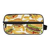 Montoj - Bolsa de aseo para guardar cosméticos, patatas fritas, hamburguesas de carne de vacuno, bolsa de maquillaje, bolsa de gárgola para viajes y hogar