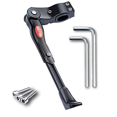 HENMI Fahrradständer 4 cm Höhenverstellbar und Universal Seitenständer, Dauerhaft Bike Stand gemacht durch Aluminiumlegierung