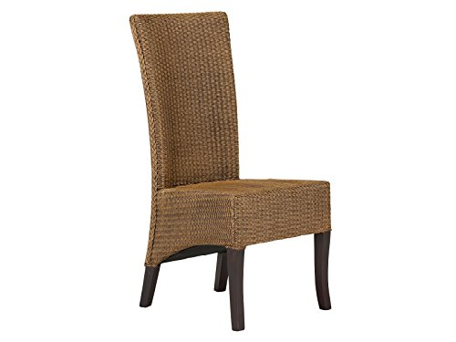 massivum Stuhl Adlan 44x102x55 cm Loom braun lackiert