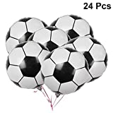 Amosfun Fußball Aluminiumfolie Ballon Mylar Ballons Partei Liefert für Weltmeisterschaft Geburtstag Sport Thema Party Dekoration 24 Stücke