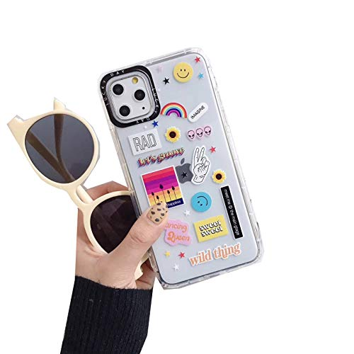 INS Fashion Cute Rainbow Photo Phone Case for iPhone 11 Pro MAX SE Earth Plane Clear Lens Protection Cover-1-for iPhone 12 Pro