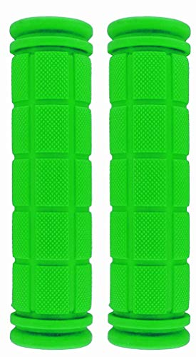 U-JOY Bike Handlebar Grips for Kids Girls Boys, Non-Slip Rubber Mushroom Bicycle Grips for Scooter Cruiser Seadoo Tricycle Wheel Chair Mountain Road Urban Foldable Bike MTB BMX (Green)