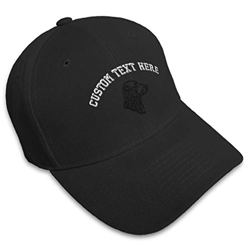 Custom Baseball Cap Chesapeake Bay Retriever Head Embroidery Pets Dogs Animal Acrylic Hats for Men & Women Strap Closure Black Personalized Text Here