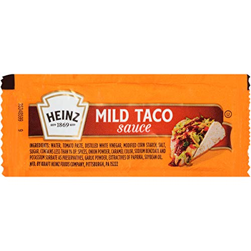 Heinz Mild Taco Sauce Single Serve Packet (0.3 oz Packets, Pack of 200)