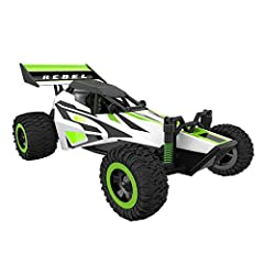 EASY TO STEER: Full function controls direct the remote-control truck left, right, forward and back HIT HIGH SPEEDS: Use the battery powered transmitter to crank the electric car's speed up to 12 mph ALL TERRAIN VEHICLE: Race the toy car up to 50 ft ...