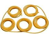 GM&BW 10m, 1.7X4.5mm Goma para Tirachinas ---Tubo Elástico de Látex Natural con Alargamiento Máximo del 700% --- para Hacer Tirachinas Catapulta Profesionales para Caza o Competicion o Recambio