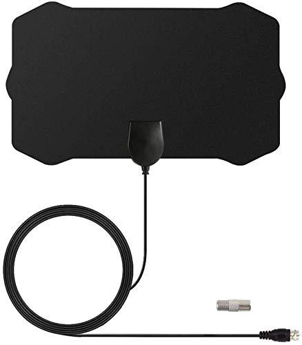 tv antenna amplifier walmarts 200 Miles TV Antena 1080P Digital HDTV Indoor TV Antenna Signal Booster HD Mini Antennas Aerial (Black, one Size)