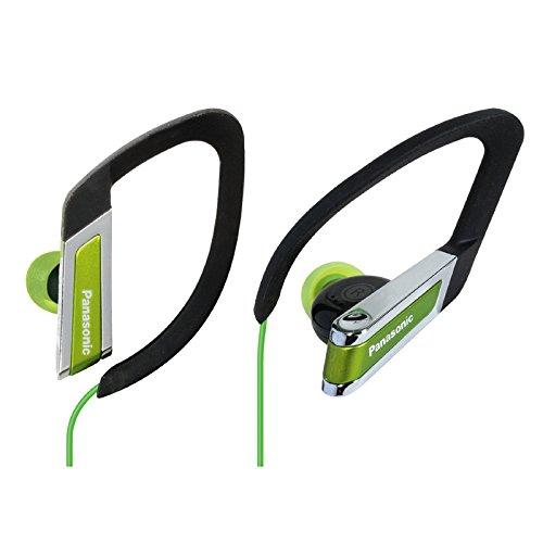 Panasonic RP-HS200E-G Sport Kopfhörer (Beständiges Material, fester Sitz, auswechselbare Pass-Stücke) grün