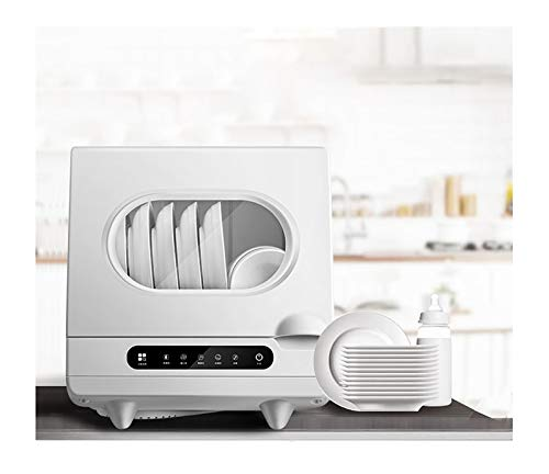 RHSMW Lavavajillas de Encimera, Totalmente Independiente automático de Alta Capacidad Otro Gratis Lavado de instalación de la máquina, los hogares de Secado Mini Lavavajillas, 1200w Blanco