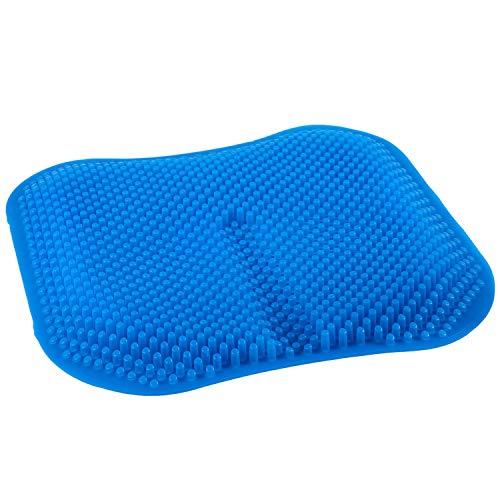 Gesh Funda de asiento de coche de gel de sílice, antideslizante, para oficina, camión, casa, transpirable, de silicona, 16,5 pulgadas, color azul