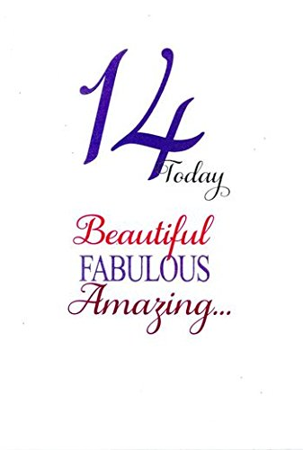 14 Vandaag, Mooi, Fantastisch, Geweldig. Verjaardagskaart voor een 14 Veertien jaar oud