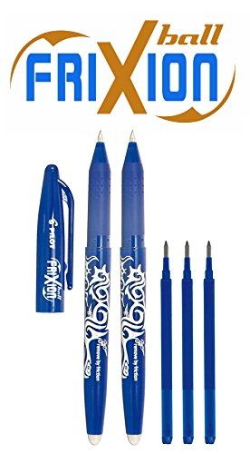 Pilot 2260BM2I - Aktionspack Inhalt: 2 Frixion Ball blau + 3 Frixion Mine blau