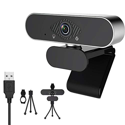 FOLME Webcam 1080P con Micrófono Estéreo,USB Webcam con Webcam Cover...