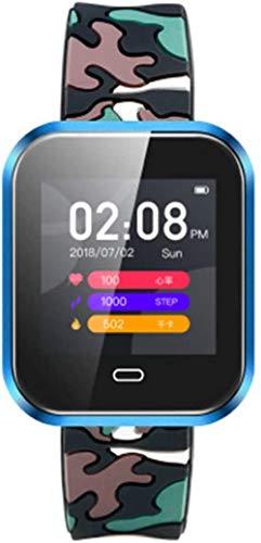 JSL Multi-deporte modo inteligente reloj de frecuencia cardíaca presión arterial inteligente monitoreo de llamada recordatorio de la temperatura del tiempo pronóstico inteligente reloj-azul1-azul