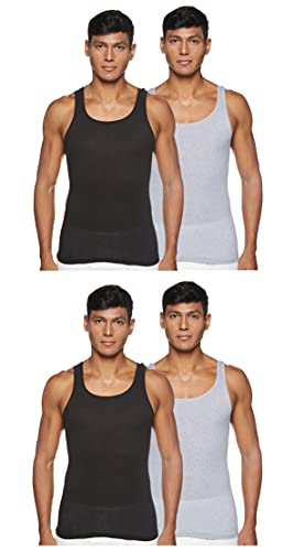 Hanes Men's ComfortSoft Moisture Wicking Tagless Tank Undershirts – Multipack, Assorted 4-Pack, Large