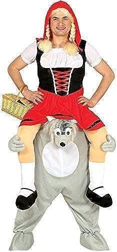 Fancy Me Damen Herren darauf Reiten Schritt Wolf Rot Riding Herrenabend Henne Do Nacht M hen Kostüm Kleid Outfit