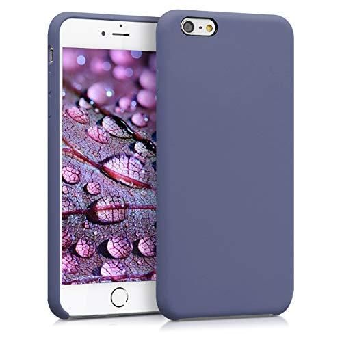 kwmobile Hülle kompatibel mit Apple iPhone 6 Plus / 6S Plus - Handyhülle gummiert - Handy Case in Lavendelgrau
