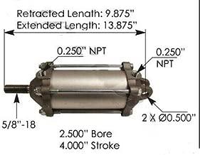 Dump Truck Locking Tailgate Air Cylinder H/D 2-1/2 Diameter x 4 Stroke 100122