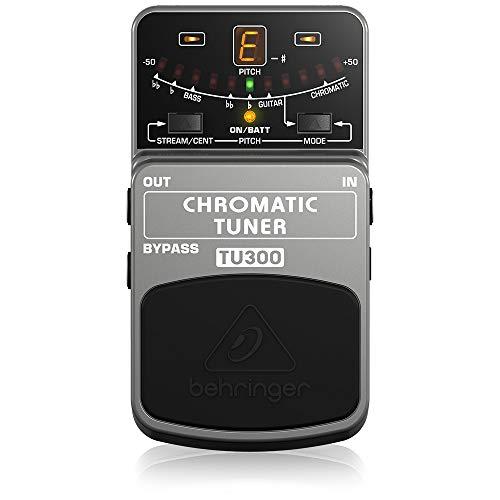 Behringer TU300 Chromatic Tuner Stomp Box, Grau