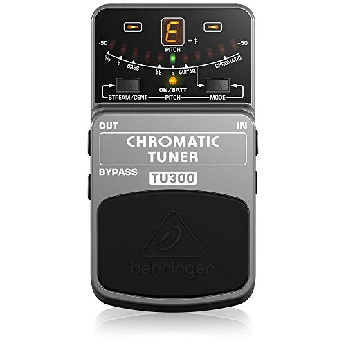 Behringer TU300 Chromatic Tuner Stomp Box, Grau