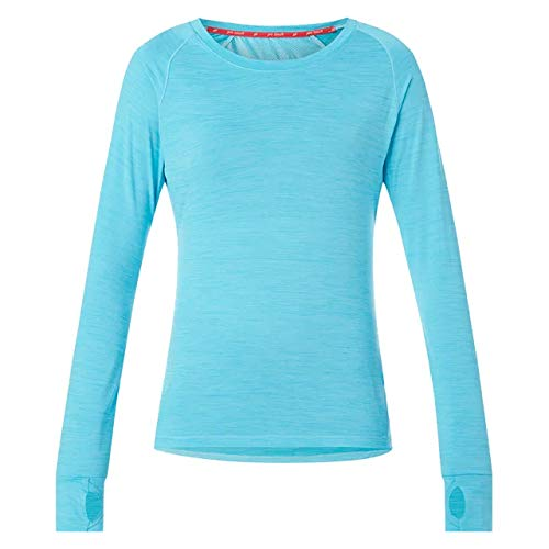 Pro Touch Aimo Femme Sweatshirt, Melange/Turquoise, FR : L (Taille Fabricant : 42)
