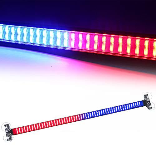 LED Warning Light Bar 120 LED Red Blue Interior Upper Windshield Strobe Flash LED Visor Light Bar for Law Enforcement Emergency Vehicle Warning Visor Lights