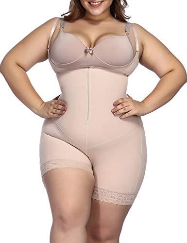 FeelinGirl Mujer Faja Shapewear Lencería Moldeadora Shaper Control de la Panza Bragas Ropa Interior Reductora con Encaje