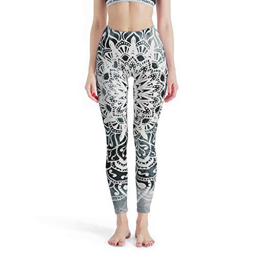XHJQ88 -Etnische Stijl Broek Strakke Ankles Vrouwen, Art Leggings Mandaland Patroon Print Hoge Taille Print Leggings Workout Capris voor Vrouwen