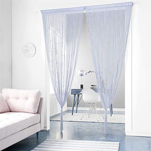 Taiyuhomes Classic Spaghetti String Vorhang Fliegengitter Vorhänge für Türen, Türen, Fensterbehandlungen und Wohnkultur(Grau,90x200)